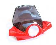 Pantalla parabrises amb carenat vermell